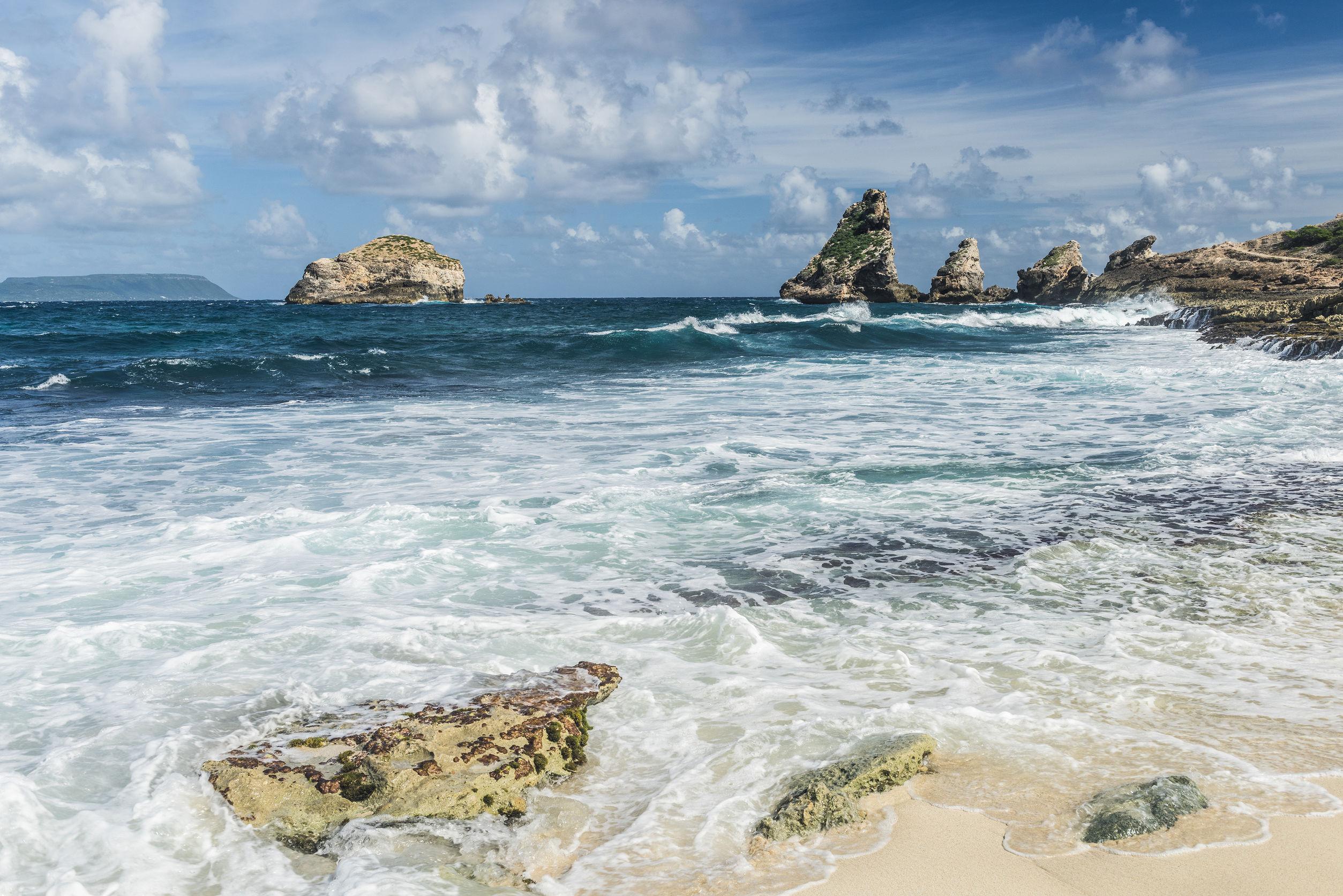 Pointe des Chateaux Guadalupa Caraibi